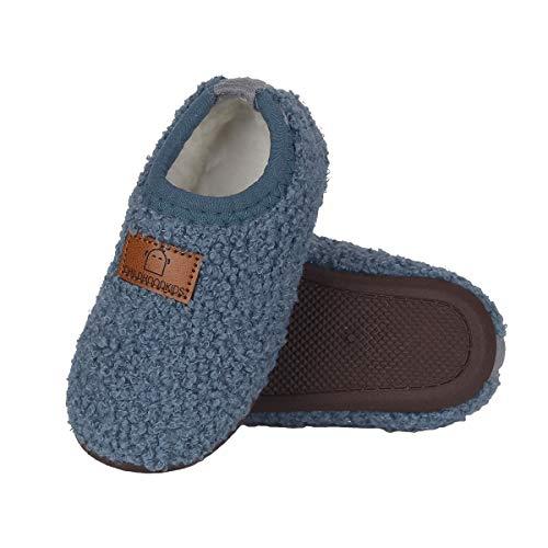 DEBAIJIA Zapatos para niños pequeños 1-3T Baby First-Walking Kid Suela Suave Algodón Dibujos Animados Patrón 22 EU Azul (Tamaño Etiqueta 24)