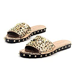 Rose Gold Tonie Sandals Slide Studded Mules Slip On