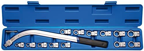 BGS 1312 spanrolsleutelset twaalfkant SW 12-19 mm/E-profiel SW E10 - E18 15-delig