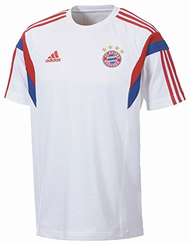 Adidas T-Shirt FC Bayern Thé XXL White/FCB True Red