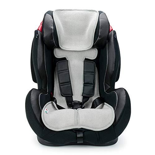 Babysanity® Copri Seggiolino Auto Universale AIR MESH 3D 9/36 Kg con Copri Seduta Traspirante Rinfrescante e Antibatterico -MADE IN ITALY- Grigio