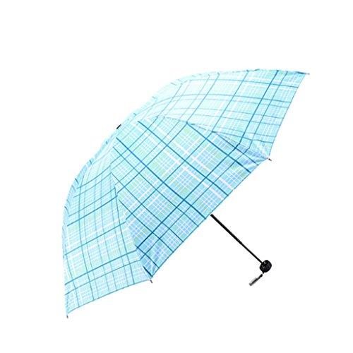 XiuHUa Parasol Parasol Vouwen Parasol UV Bescherming Zonnekap Open Sterke Regen Parasol Snelle Drogen Winddichte Reizen Paraplu Compact Reizen Paraplu met Teflon Luifel (Blauw/Groen/Roze) paraplu