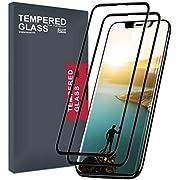 Meidom Panzerglas Kompatibel mit iPhone XS Panzerglas iPhone X Displayschutzfolie (2 Stück) 3D Touch [Kratzfest] Schutzfolie Folie für iPhone XS/X 5,8 Zoll - Schwarz