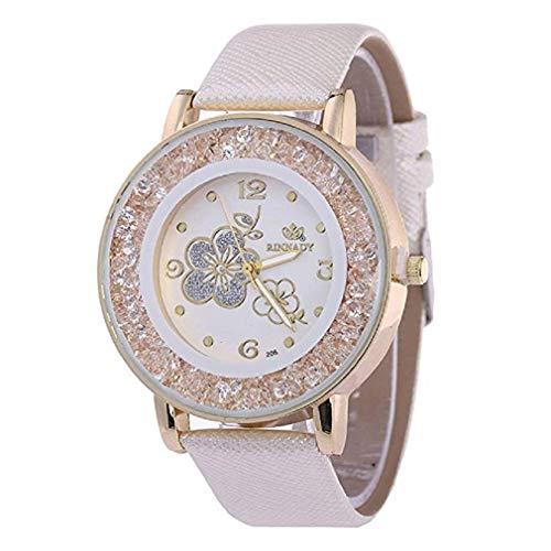 ¡Promoción Relojes de Cuarzo para Mujer, señoras, Chicas Adolescentes, Moda Minimalista, Reloj de Pulsera analógico Casual. (Blanco)