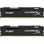 Kingston HyperX Fury HX421C14FBK2/8 8GB Arbeitsspeicher kit (2x 4GB) (2133MHz DDR4 Non-ECC CL14 DIMM (Skylake compatible))