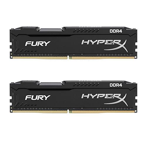 HyperX FURY HX426C15FBK2/8 DDR4 8 GB (Kit 2 x 4 GB), 2666 MHz CL15 DIMM XMP, Nero 2 pezzi
