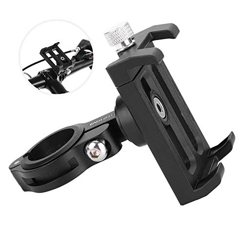 HelloCreate Phone Holder, Road Bicycle Mountain Bike Mobile Phone Holder with 360 Degree Rotation