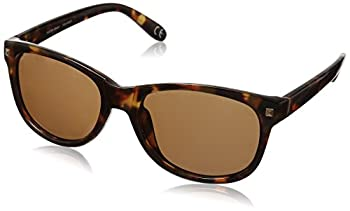 Foster Grant Women s Sutton Polarized Rectangular Sunglasses Tortoise/Brown POL 51.5 mm