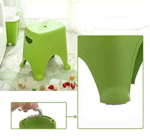 XQY Hauptstuhl-Schemel Klappstuhl-Plastikstapelnschemel, Haushaltsschemel-Sitz, Kindermode-Schemel, Badezimmer-rutschfester Schemel,Grün,