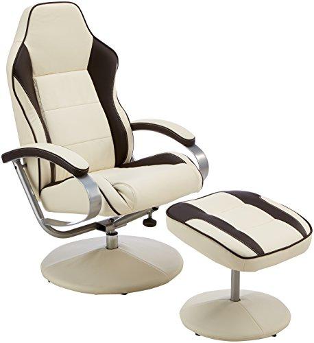 Amstyle Fernsehsessel Sporting TV Design Relax-Sessel verstellbar Racing...