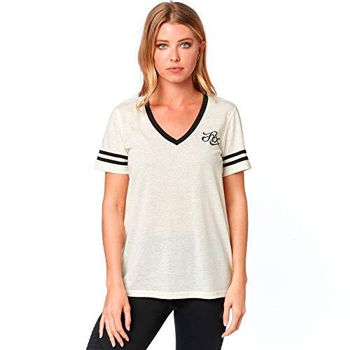 Fox Damen Heartbreaker Kurzarmshirt, Damen, T-Shirt, Heartbreaker Short Sleeve TOP, Knochenfarben, Small