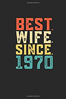 Best. Wife. Since. 1970: Personal Planner 24 month 100 page 6 x 9 Dated Calendar Notebook For 2020-2021 Academic Year Retro 49th Wedding Anniversary notebook for Her to jot down ideas and notes