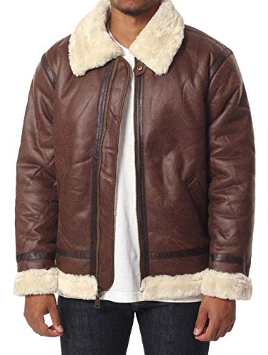 ALPHA INDUSTRIES Herren B3 FL, Brown, XL
