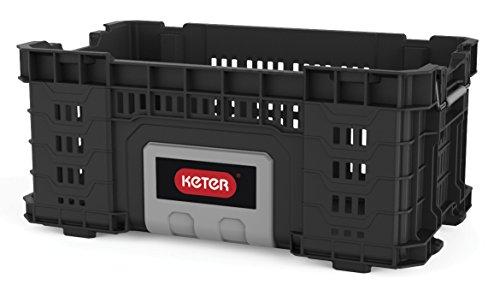 Keter Master Pro Gear Crate 22 - Cajón de herramientas, 1unidad, color negro, gris y plateado, modelo 17202245