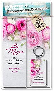 Paquete Biblico Marcapaginas & Llavero (Spanish Giftset of Bookmark & Keytag) - Mujer