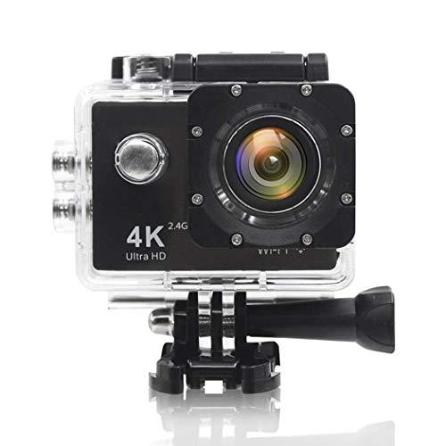 Cámara de acción Wifi 4K 16MP Ultra HD con lente gran angular de 170 grados Control remoto de cámara a prueba de agua subacuática, videocámara bajo el agua con baterías y kit de accesorios para casco