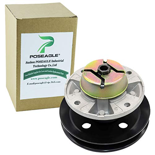 """POSEAGLE AM121229 Lawn Mower Spindle Assembly Replaces John Deere AM121342 Oregon 82-333 Rotary 11278 Stens 285-109 48"""" 54"""" Decks with Cataphoric Pulley"""