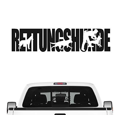 siviwonder Rettungshunde Hundesport Auto Aufkleber Hund Folie Mantrailing Suchhunde Farbe Schwarz Matt, Größe 80cm