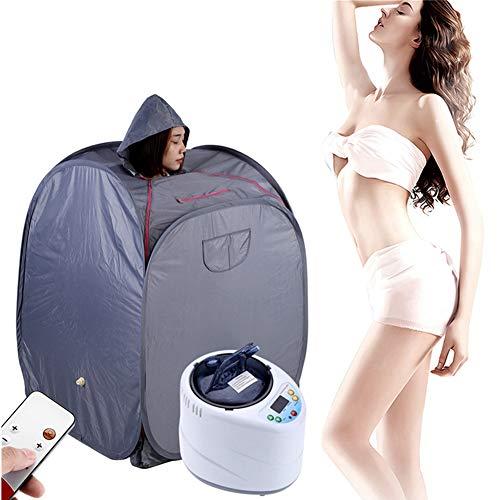 Afstandsbediening sauna stoomper, 2l intelligente draagbare sauna stoommachine begasing instrument met sauna cap afdekking voor huis persoonlijk spa indoor lichaam ontspannen stoomer Eustekker: 220 V.