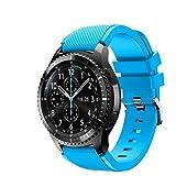 FunBand Correa Compatible con Samsung Galaxy Watch 3 45mm, 22mm Pulsera de Repuesto Deportiva de Silicona Suave para Samsung Gear S3 Frontier / S3 Classic/Galaxy Watch 46mm / Huawei Watch GT2 Pro