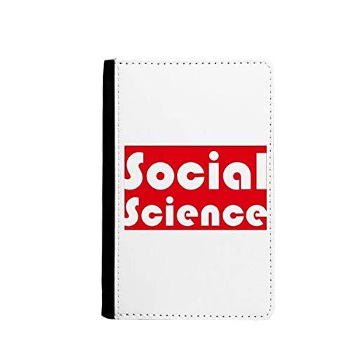 Cursus en belangrijke sociale wetenschap rode paspoort houder reizen portemonnee hoesje kaart portemonnee