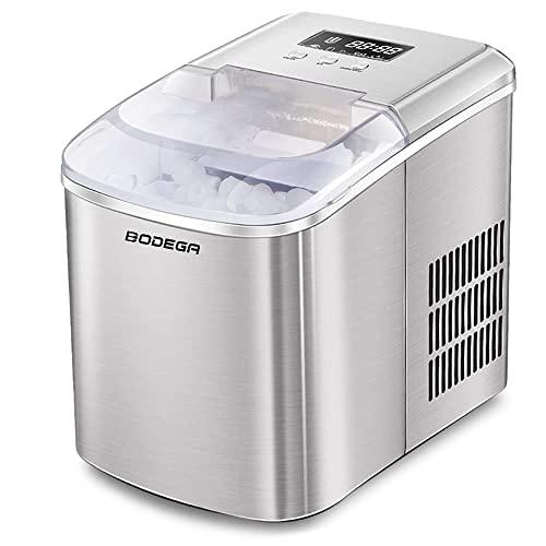 BODEGA Máquina de hielo máquina de cubitos de hielo, cubitos de hielo de 12 kg 24 h, fabricador de...