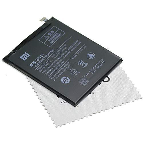 Xiaomi - Batería original BN41 para Xiaomi Redmi Note 4 con paño de limpieza de mungoo
