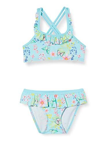 Sanetta Mädchen Bikini Badebekleidungsset, Blau (Blau 5999), 98 (Herstellergröße: 098)