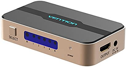 Digitalkey HDMI Switch 5 In 1 out con Control Remoto - Soporta 4K y Dolby 3D - 5 Fuentes para 1 Salida de Pantalla