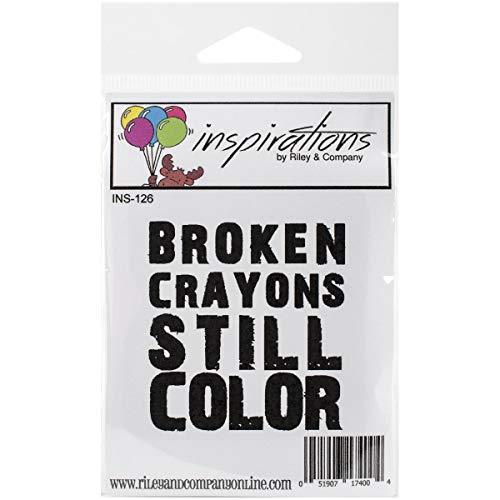 Riley & Company en Caoutchouc Inspirations étirable Tampon 6,3 cm X 7,6 cm, cassé Crayons