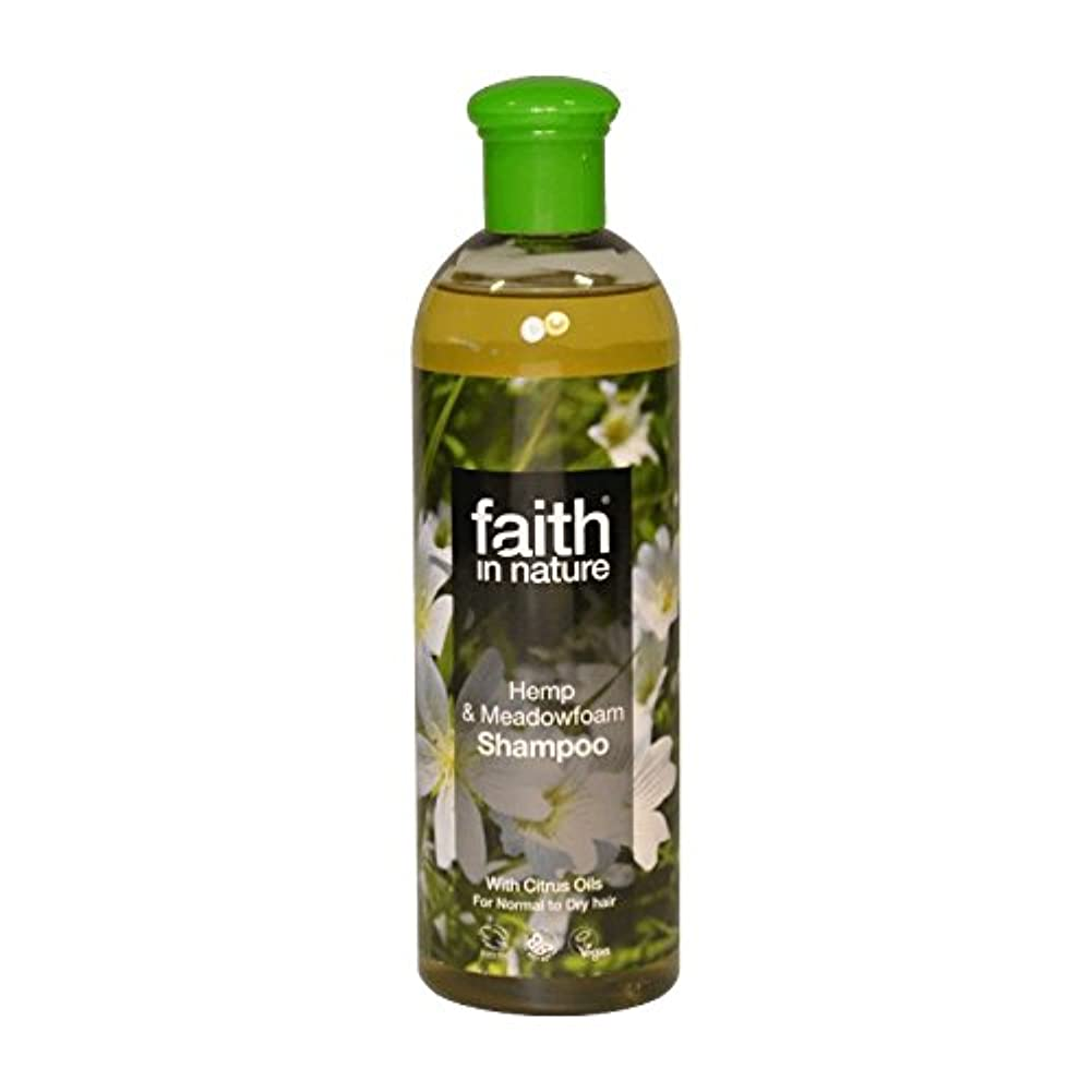 ポール下位切手自然の麻&メドウフォームシャンプー400ミリリットルの信仰 - Faith in Nature Hemp & Meadowfoam Shampoo 400ml (Faith in Nature) [並行輸入品]