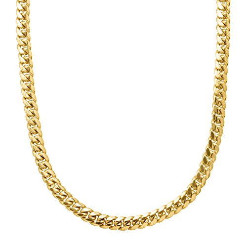 14K Yellow Gold Solid Heavyweight Miami Cuban Link Chain Necklace with Box Lock Clasp 6MM Thick (22)