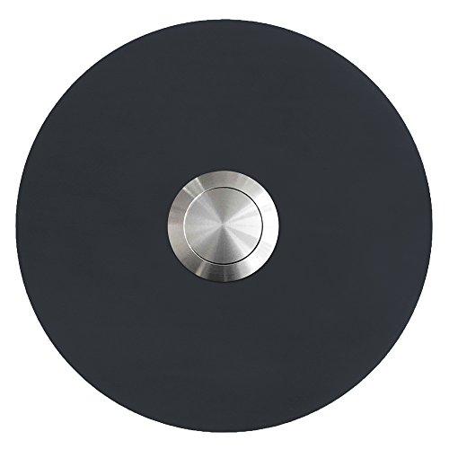 MOCAVI RING 125 Edelstahl-Design-Klingel anthrazit-grau seidenglanz RAL 7016 rund (8 cm.) dunkel-grau, Klingeltaster