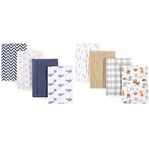 Hudson Baby Boy Cotton Flannel Burp Superlatite Whale Spring new work Woodland Cloth 8-Pack