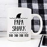 Taza con diseño de tiburón para abuelo, regalo para el día del padre, regalo para abuelo, regalo divertido para abuelo, regalo 1304 03