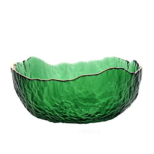 WxberG Cuencos de cristal de 35 cm, mini cuencos de vidrio para preparación de cocina, postre, salsas y platos de caramelo o tazones de tuerca, juego de 2 (tamaño: 380 ml)