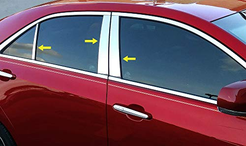 Made in USA! Works with 2013-2019 Cadillac ATS 6PC Stainless Steel Chrome Pillar Post Trim