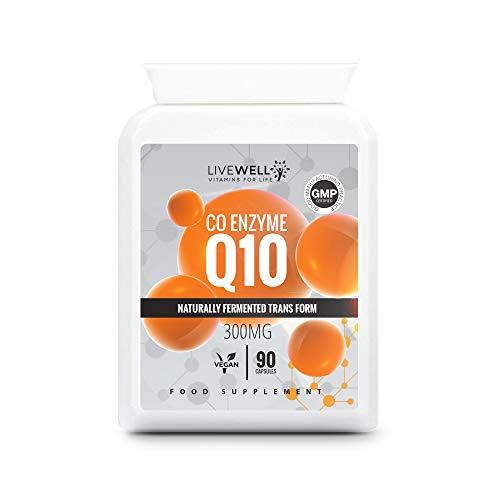 CoQ10 300mg | 90 Vegan Capsules | Naturally Fermented Transform | High Strength Capsules Made in The UK