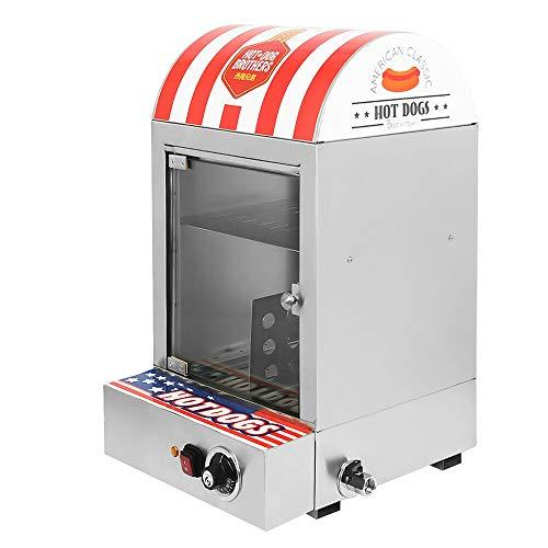 Máquina eléctrica para hacer perritos calientes, 1500 W, de acero inoxidable, para fiestas, calentadores comerciales, salchichas, 30-110 ℃, 220 V, enchufe europeo