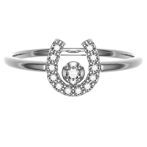 [ココカル]cococaru ダイヤモンド リング シルバー Silver925 指輪 24号 馬蹄 天然 ダイヤ 日本製