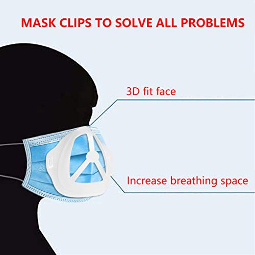 10 pcs 3D Face Bracket for More Space to Breathing, Internal Support Holder Frame Protect Makeup and Lipstick Translucent Wearing