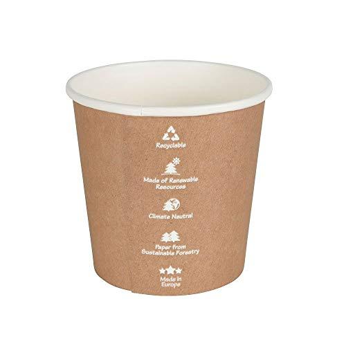 BIOZOYG Vasos universales de cartón 300ml 25 pzas. I Vasos de Papel para Llevar Bio-Revestido Ø 91mm I Respetuoso del Medio Ambiente, Estable y reciclable I Silvicultura sostenible I Hecho en Europa