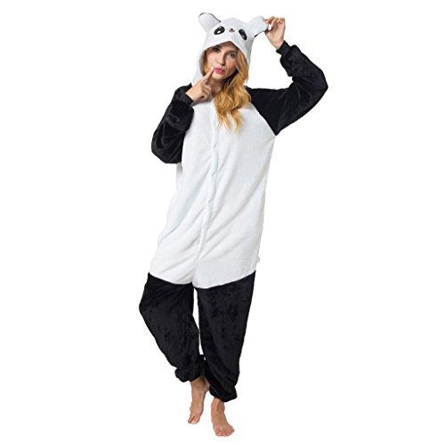 Katara 1744 - Panda süß Kostüm-Anzug Onesie/Jumpsuit Einteiler Body für Erwachsene Damen Herren als Pyjama oder Schlafanzug Unisex - viele Verschiedene Tiere