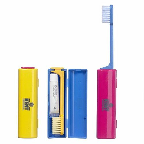 Kent Reise-Zahnbürste mit Zahnpasta blau 1 Stück