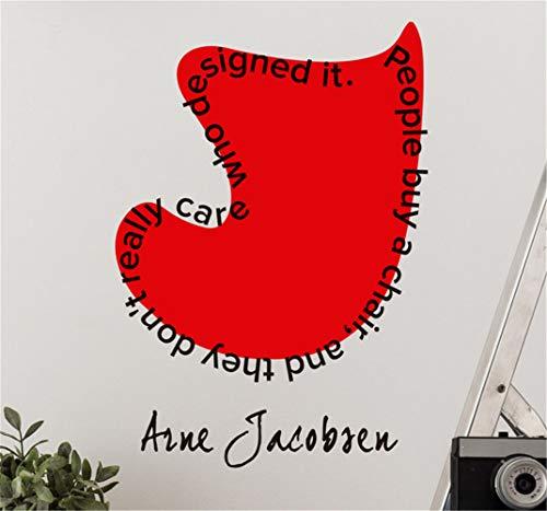 wandaufkleber 3d Wandtattoo Schlafzimmer Arne Jacobsen Wandaufkleber für Wohnzimmer Schlafzimmer