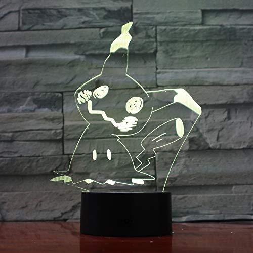 Lampara LED Videojuego Pokémon Mimikyu Cambia Color USB Luz nocturna y decoración