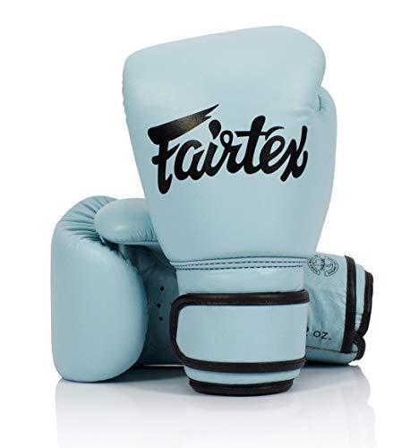 Fairtex Genuine New Pastel Blue Boxing Gloves Genuine Leather (16oz)