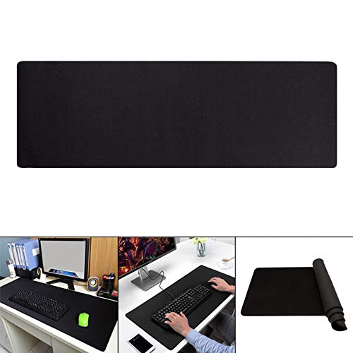 ZREAL Extra grote gaming muismat rubber anti-slip schrijftafelmat muismat, 900x400x3mm, zwart