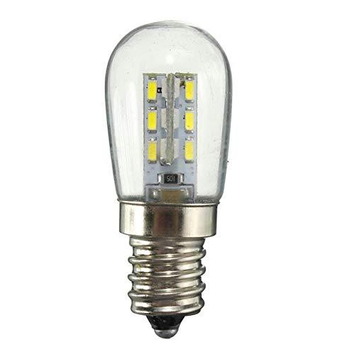 Ballylelly AC220 / AC110V LED-Lampe E12 E14 Smd 24 LED-Glaslampenschirm mit hoher Helligkeit Reine warmweiße Lampe für Nähmaschinen-Kühlschrank