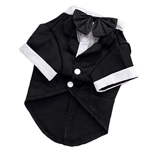 Jim Hugh Dog Clothes Male Tuxedo Wedding Dress Gentleman Pet Coat Jacket Outfit Pug French Bulldog Clothes